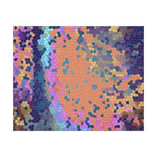 惑星ZANのTHAKの島の格子地図 キャンバスプリント