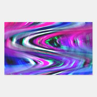 想像のカーブ 長方形シール