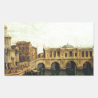 想像の大運河のCapriccio 長方形シール