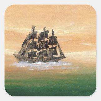 想像の帆船CricketDianeの船 スクエアシール