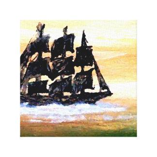 想像の芸術の絵画のミステリー不気味な船 キャンバスプリント