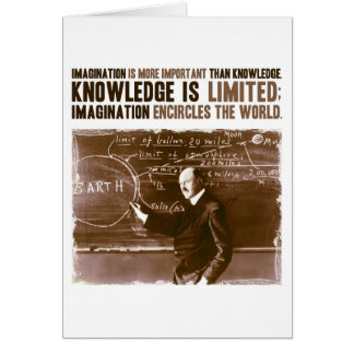 想像は知識より重要です カード