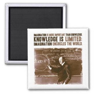 想像は知識より重要です マグネット