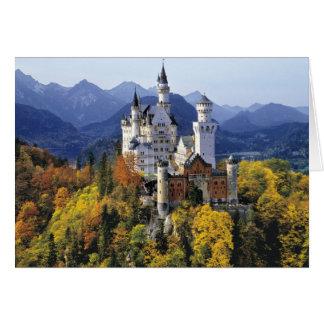 想像力に富むノイシュヴァンシュタイン城は3の1つです カード