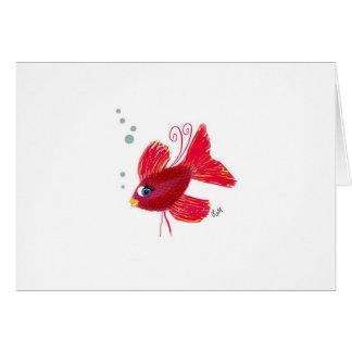 想像赤い魚 カード