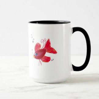 想像赤い魚 マグカップ