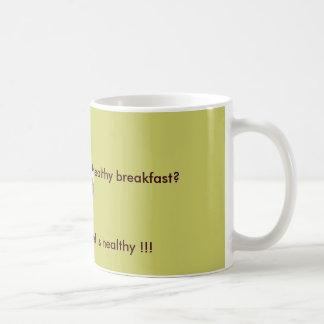 意味する何が、健康な朝食… コーヒーマグカップ