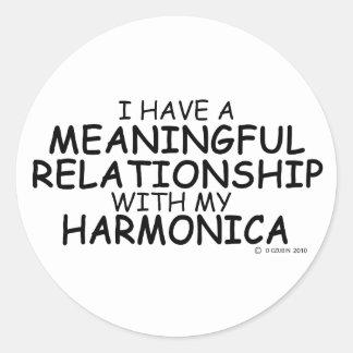 意味を持った人間関係のハーモニカ ラウンドシール