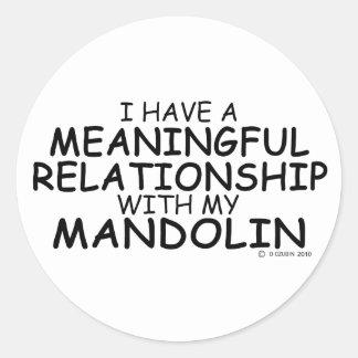 意味を持った人間関係のマンドリン ラウンドシール