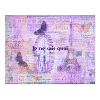 意味不明な言葉のフランスのな句-パリのテーマの芸術 ポストカード