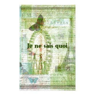 意味不明な言葉フランスのな句のパリのテーマの装飾 便箋