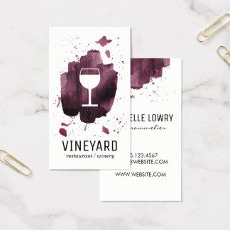 意味深長なブラシをかけられた質/ワイングラス 名刺