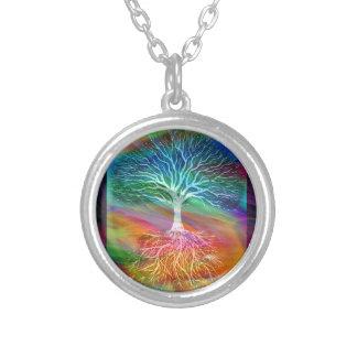意味生命の樹 シルバープレートネックレス