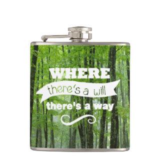 意志あるところに道あり(森林) フラスク