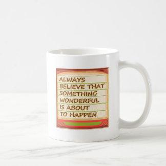 意思nの陽性の考えることの力 コーヒーマグカップ
