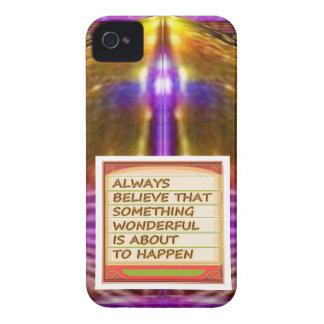 意思nの陽性の考えることの力 Case-Mate iPhone 4 ケース