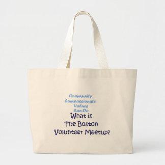 意欲的なコミュニティ、情け深い… 大きな価値! ラージトートバッグ