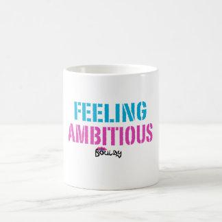 「意欲的な」マグを感じます コーヒーマグカップ