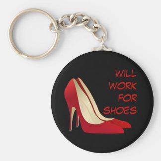 意欲的: 靴のために働きます(多分) キーホルダー
