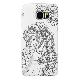 意気揚々と歩くデイジーの馬Samsung S6 Samsung Galaxy S6 ケース