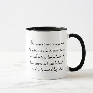 意見のジェーンAustenの引用文のための記述 マグカップ
