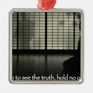 意見真実の把握を見たくなければ メタルオーナメント