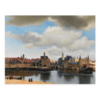 意見1月Vermeer -デルフトの ポストカード