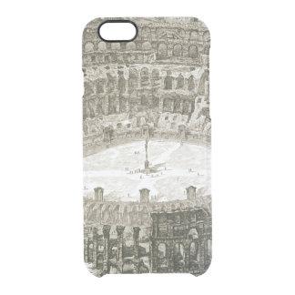 「意見oからのローマのColosseumの空中写真 クリアiPhone 6/6Sケース