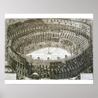 「意見oからのローマのColosseumの空中写真 ポスター