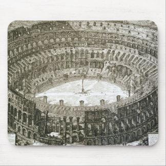 「意見oからのローマのColosseumの空中写真 マウスパッド