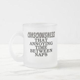 意識: 昼寝間のその迷惑な時間 フロストグラスマグカップ