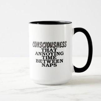 意識: 昼寝間のその迷惑な時間 マグカップ