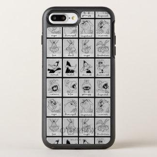 愚かいTUNES™のキャラクターの感情の図表 オッターボックスシンメトリーiPhone 8 PLUS/7 PLUSケース