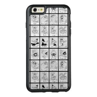 愚かいTUNES™のキャラクターの感情の図表 オッターボックスiPhone 6/6S PLUSケース