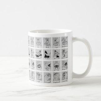 愚かいTUNES™のキャラクターの感情の図表 コーヒーマグカップ