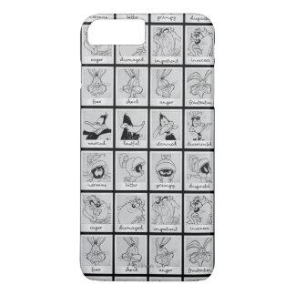 愚かいTUNES™のキャラクターの感情の図表 iPhone 8 PLUS/7 PLUSケース