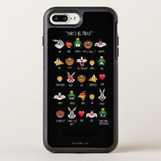 愚かいTUNES™ Emojiの図表 オッターボックスシンメトリーiPhone 8 Plus/7 Plusケース