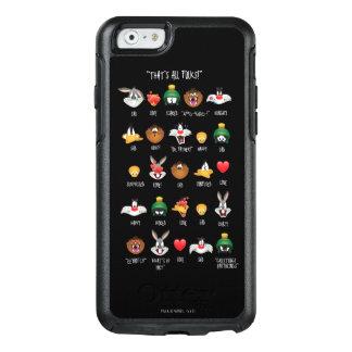 愚かいTUNES™ Emojiの図表 オッターボックスiPhone 6/6sケース