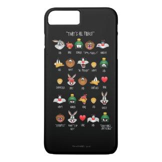 愚かいTUNES™ Emojiの図表 iPhone 8 Plus/7 Plusケース
