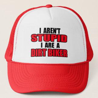 愚かではない土のバイクのモトクロスの帽子の帽子はありません キャップ
