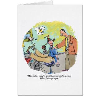 愚かな弁解の漫画の挨拶状 カード