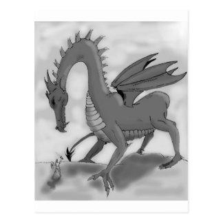 愚かな騎士(白黒) ポストカード