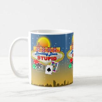 愚かな(暗い)マグで倍増することを止めて下さい コーヒーマグカップ