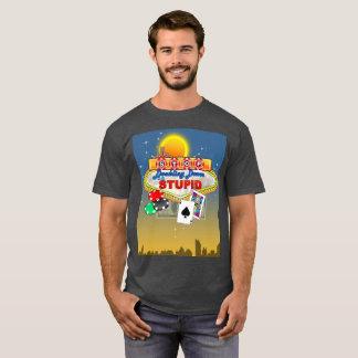 愚かな(暗い) Tシャツで倍増することを止めて下さい Tシャツ