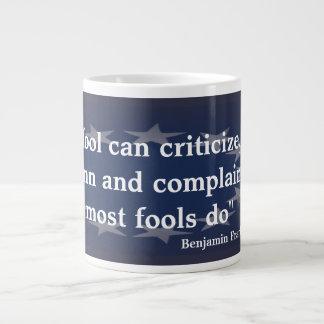 愚か者のベンジャミン・フランクリンの引用文 ジャンボコーヒーマグカップ