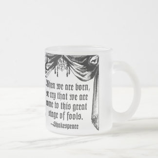 愚か者の引用文のマグ、シェークスピアのステージ フロストグラスマグカップ