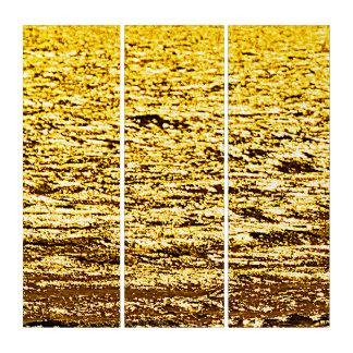 愚か者の金ゴールドの黄鉄鉱の抽象芸術のトリプティクの壁の芸術 トリプティカ