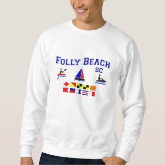愚劣のビーチSCのシグナルフラグ スウェットシャツ