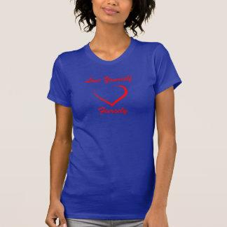 愛あなた自身は激しくティーにのせます Tシャツ