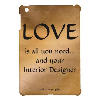 愛およびあなたのインテリア・デザイナー-銅 iPad MINIカバー